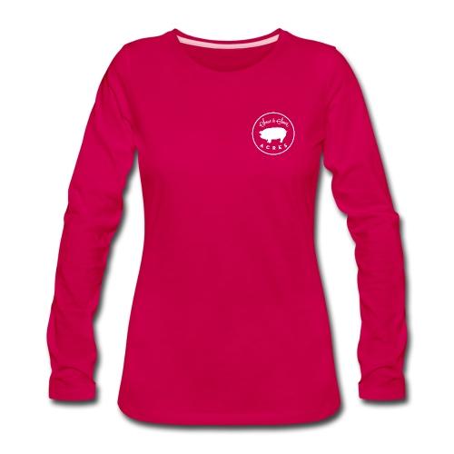 Women's Dark Pink Long Sleeve Tee With Sweet & Sower Logo - Women's Premium Long Sleeve T-Shirt