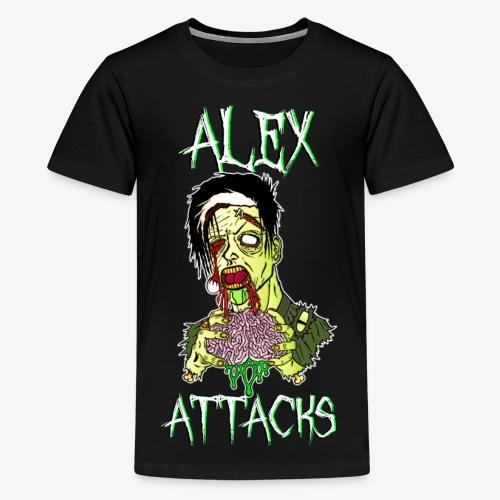 Zombie Eating Brains Kid's T-Shirt - Kids' Premium T-Shirt