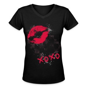 XOXO V-Neck - Women's V-Neck T-Shirt