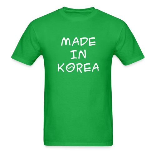 Made in Korea Green t-shirt - Men's T-Shirt