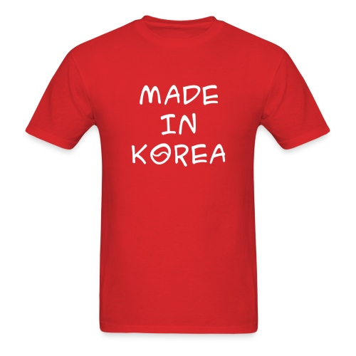 Made in Korea red t-shirt - Men's T-Shirt