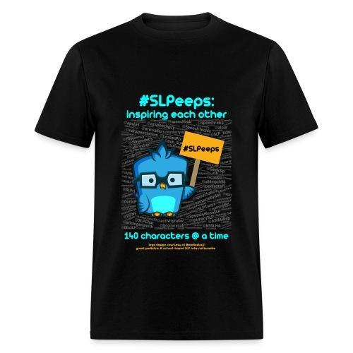 #SLPeeps Black Men's Standard Weight T - Men's T-Shirt