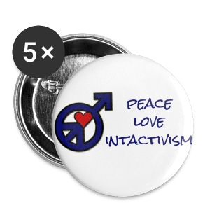peace love intactivism - Small Buttons