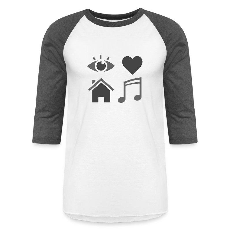 I Love House Music Baseball Tee - Baseball T-Shirt