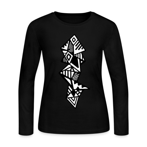 Women's Geometric Long Sleeve - Women's Long Sleeve Jersey T-Shirt