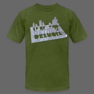 Detroit Loose Leaf - Men's T-Shirt by American Apparel