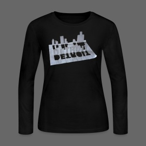 Detroit Loose Leaf - Women's Long Sleeve Jersey T-Shirt
