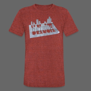 Detroit Loose Leaf - Unisex Tri-Blend T-Shirt by American Apparel