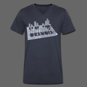 Detroit Loose Leaf - Men's V-Neck T-Shirt by Canvas