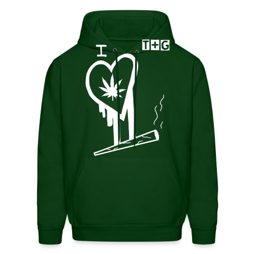 The groove (i love weed graphic hooded sweatshirt) - Men's Hoodie
