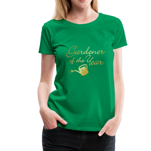 Gardener of the Year T-Shirt (Gold) - Women's Premium T-Shirt