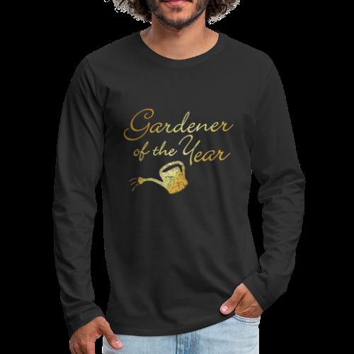 Gardener of the Year Sweatshirt (Gold) - Men's Premium Long Sleeve T-Shirt