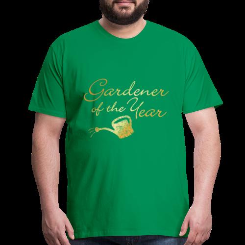 Gardener of the Year T-Shirt (Gold) - Men's Premium T-Shirt