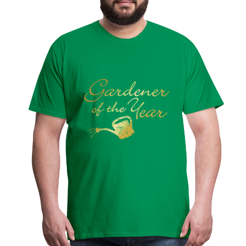 Gardener of the Year T-Shirt (Gold) - Men's Premium T-Shirt