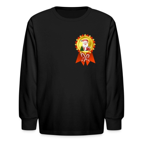 Christmase Rosette  - Kids' Long Sleeve T-Shirt