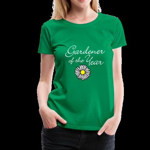 Gardener of the Year (White) T-Shirt - Women's Premium T-Shirt