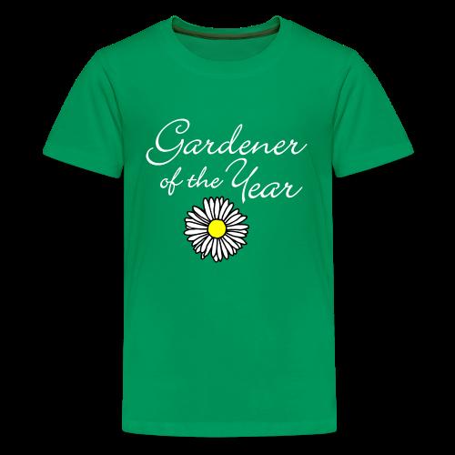Gardener of the Year (White) Kids' T-Shirt - Kids' Premium T-Shirt