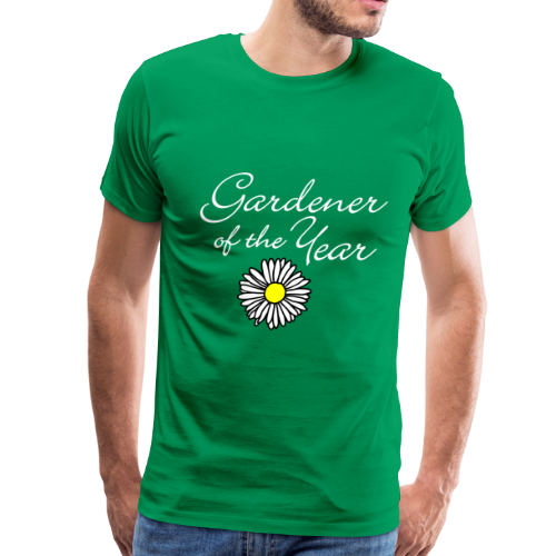 Gardener of the Year (White) T-Shirt - Men's Premium T-Shirt
