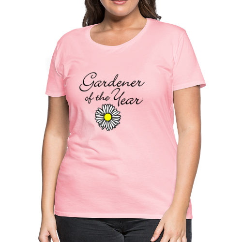 Gardener of the Year (Black) T-Shirt - Women's Premium T-Shirt