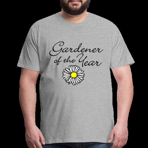 Gardener of the Year (Black) T-Shirt - Men's Premium T-Shirt
