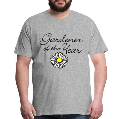 Gardener of the Year (Black) T-Shirt - Men's Premium T-Shirt