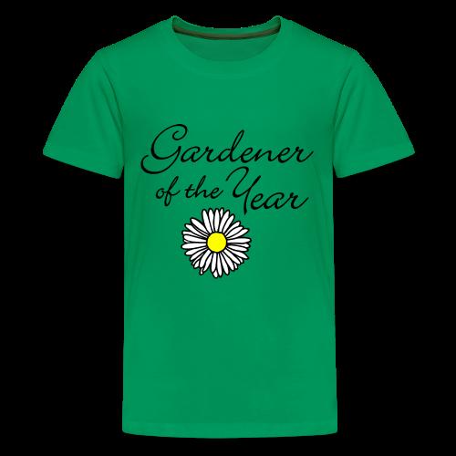 Gardener of the Year (Black) Kids' T-Shirt - Kids' Premium T-Shirt
