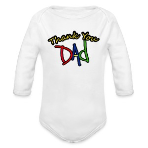 Thank You Dad - Long Sleeve Baby Bodysuit