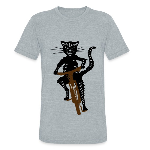 Cat on a Bike - Unisex Tri-Blend T-Shirt by American Apparel