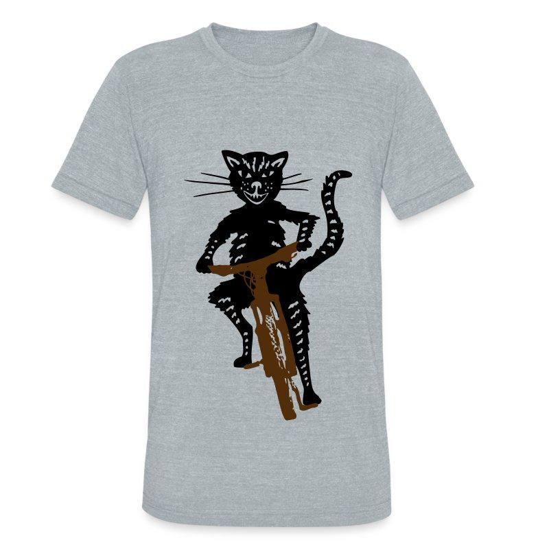 Cat on a Bike - Unisex Tri-Blend T-Shirt