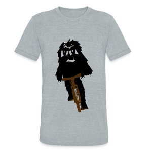 Yeti on a Bike - Unisex Tri-Blend T-Shirt