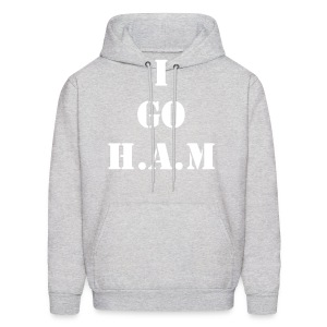 Men's Official Slogan Hoodie Gray & White - Men's Hoodie
