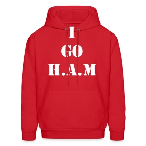 Men's Official Slogan Hoodie Red & White - Men's Hoodie