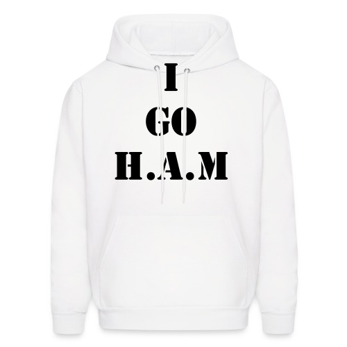 Men's Official Slogan Hoodie White & Black - Men's Hoodie