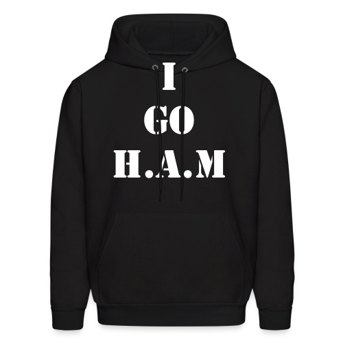 Men's Official Slogan Hoodie Black & White - Men's Hoodie
