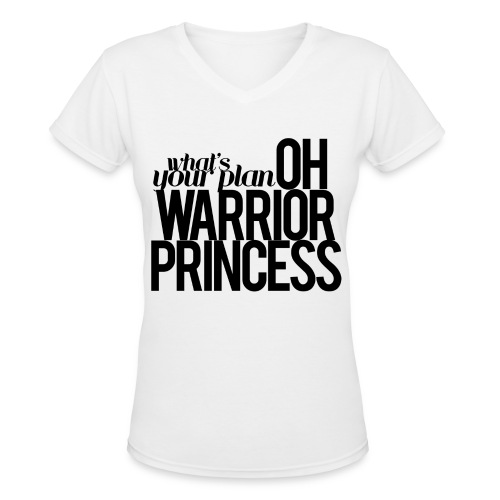 Warrior Princess - Women's V-Neck T-Shirt