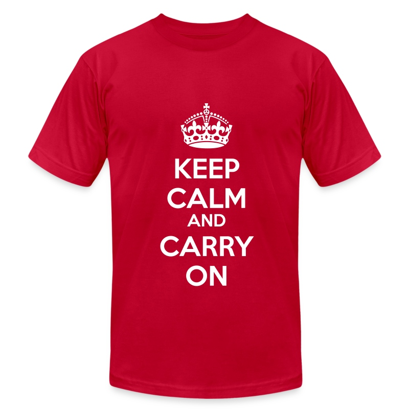 kcco keep calm and carry on classic t shirt spreadshirt