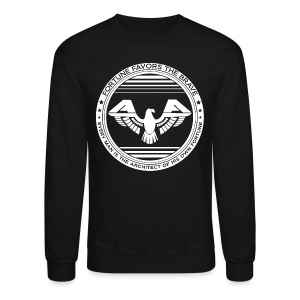 Fortune Favors the Brave Crewneck Sweatshirt by AiReal Apparel - Crewneck Sweatshirt