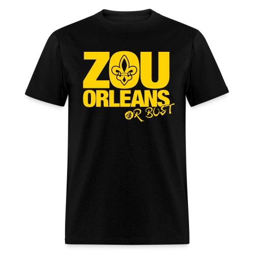 ZOU ORLEANS or BUST - Black - Men's T-Shirt