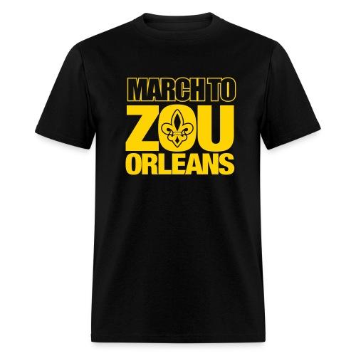 March to Zou Orleans - Black - Men's T-Shirt