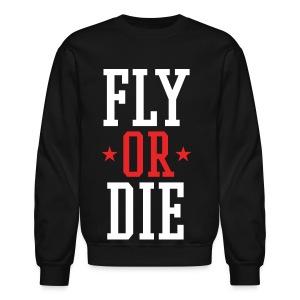 FLY OR DIE Mens Crewneck SweatShirt by AiReal Apparel - Crewneck Sweatshirt