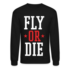 FLY OR DIE Mens Crewneck SweatShirt by AiReal Apparel - Crewneck Sweatshirt