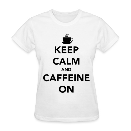Keep Calm and Caffeine On   Women's V-neck - Women's T-Shirt