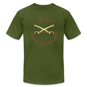 Cavalry Branch Insignia - Men's Fine Jersey T-Shirt