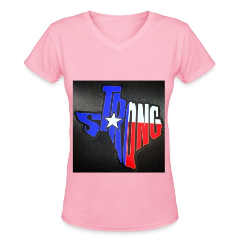 TX Strong 1 - Women's V-Neck T-Shirt