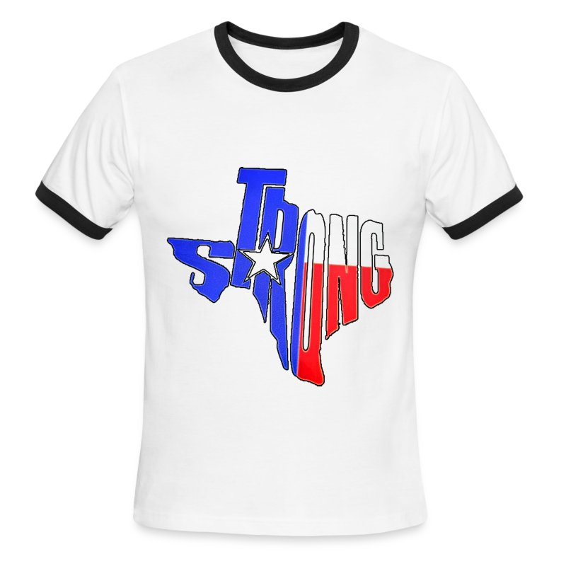 tx_strong 2 - Men's Ringer T-Shirt