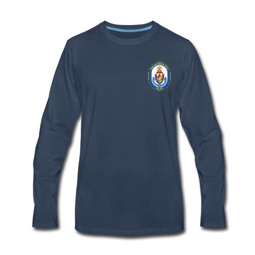 USS BUNKER HILL CG-52 Crest Long Sleeve - Men's Premium Long Sleeve T-Shirt