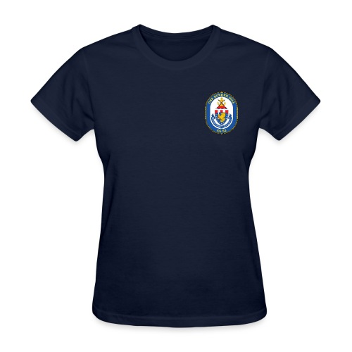 USS BUNKER HILL CG-52 Crest Tee - Women's - Women's T-Shirt