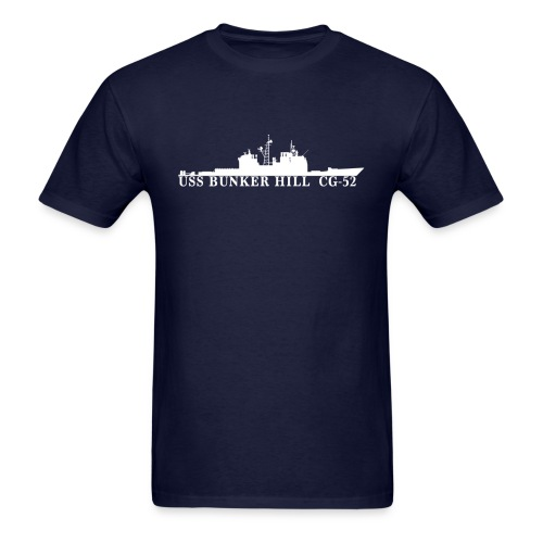 USS BUNKER HILL CG-52 Waterline Tee - Men's T-Shirt