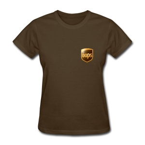 OOPS / UPS tshirt brown chest logo (women) - Women's T-Shirt
