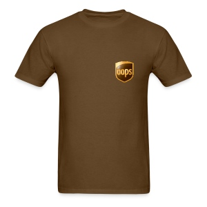 OOPS / UPS tshirt brown chest logo (men) - Men's T-Shirt
